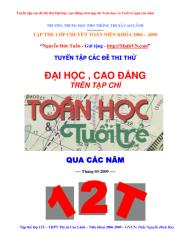 Tuyen tap cac de thi thu dai hoc tren Toan hoc tuoi tre(co dap an) .pdf