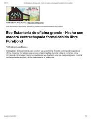 Eco Estantería de oficina grande - Hecho con madera contrachapada formaldehído libre PureBond.pdf