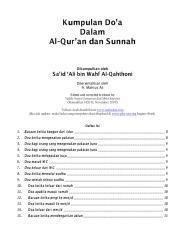 Kumpulan Doa Dalam Al-Quran dan Sunnah.pdf