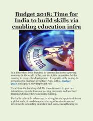 Budget 2018- Time for India to build skills via enabling education infra.pdf