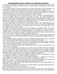 DESCUBRIMIENTOS EN EL MANTO DE LA VIRGEN DE GUADALUPE.doc