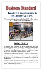 Budget 2018  Education sector to get a boost by up to 14.pdf