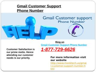 Gmail Customer Support Phone Number.pptx