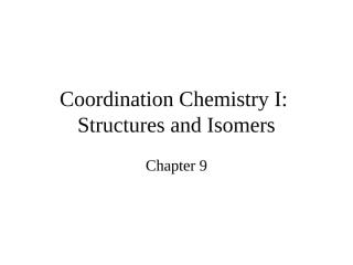 coordination chemistry i.ppt