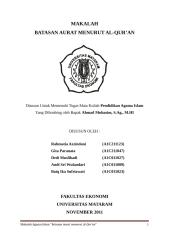 makalah pai batasan aurat menurut al-qur'an.docx