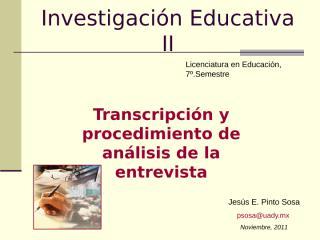 Transcripción y análisis entrevista JPinto.ppt