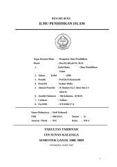 RESUME BUKU ILMU PENDIDIKAN ISLAM.doc
